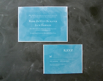 Rose and Jack - Elegant Seaside Invitations and RSVPs