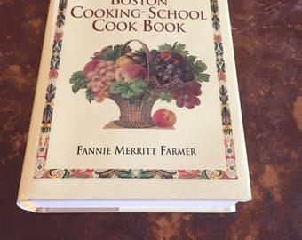 Book, The 1896 Boston Cooking School Cook Book, Fannie Merrritt Farmer, Retro, Reprint 1896 Classic Recipes, Antique Discoveries