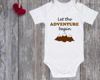Baby onesie Let the adventure begin onesie Baby Clothes Pregnancy Announcement Baby Outfit Baby Clothing Baby Bodysuit Baby Shower Gift