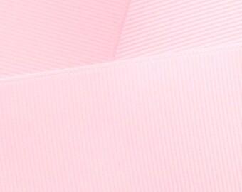 Light Pink Grosgrain Ribbon Solid- Choose Width / Length
