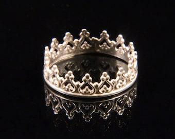 Sterling Silver Princess Crown Ring