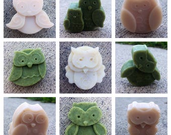 Miniature Owl Soaps, Owl Guest Soaps, Mini Soaps, Small Soaps, Mini Owl Soaps, Owl Soap, Guest Soap, Party Favor, Soap for Guests, Owl Favor