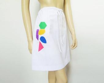 Vintage Skirt, Sports Skirt, Tennis Skirt, Vintage Sportswear, White Skirt, Vintage Clothing, Quantum, Boho Skirt, Skirts