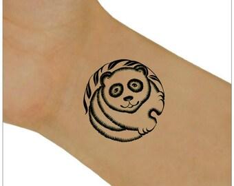 Temporary Tattoo Raccoon Waterproof Ultra Thin Fake Tattoos