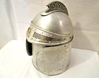 Seau à glace de chevalier médiéval, Vintage glace seau à thème médiéval, seau à glace
