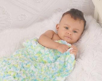 Newborn Photo Prop Newborn Baby Blanket Newborn Photography Prop Newborn Baby Boy Blanket Newborn Baby Girl Blanket Aqua Blue Lime Green