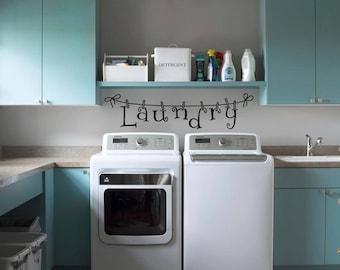 Laundry room decor | Laundry Decals | Laundry room decal | Laundry room sticker | Laundry room wall sticker | Wall decor | Wall art