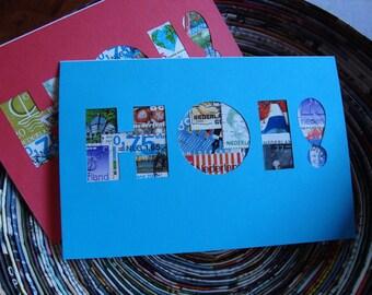 Postage Stamp Cards (Set of 2) - HOI