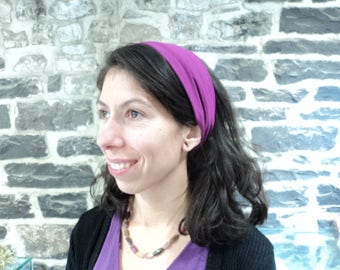 Headband extra-wide purple color. This hair accessory. Fashion accessory for girl or woman.