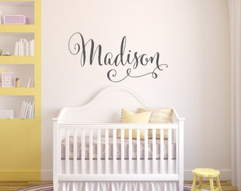 Girls Name Wall Decal - Personalized Childrens Wall Decals - Baby Girl Nursery Wall Decal - Vinyl Wall Decal - Vinyl Lettering