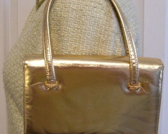 Vintage Gold Lame Bag by La France