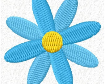 Small Flower Machine Embroidery Design - Instant Download