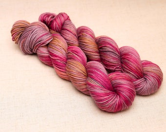 hand dyed yarn 'Run before you Walk' Aran