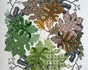 "Talliaferro's ""Oaks of Woodlawn"" Crewel Embroidery Pattern"