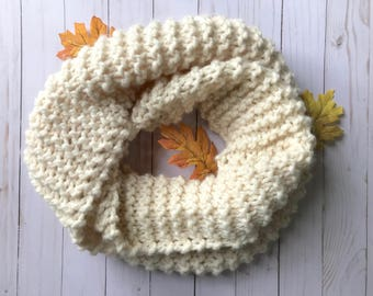 READY TO SHIP Knit Infinity Scarf