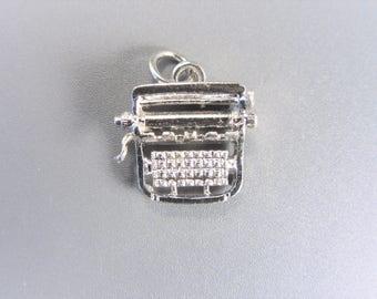Vintage Sterling Typewriter Charm