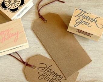 50 Standard Gift Tags / L - Kraft (1.8 x 3.8in)