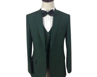 Custom Suit in Green