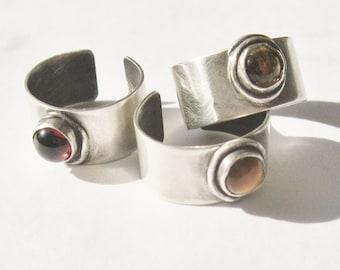 EarGem ear cuff, gemstone ear cuff, sterling earring, cuff earring with gemstone