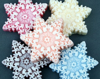 Snowflake Christmas Soap: Great Gift or Stocking Stuffer