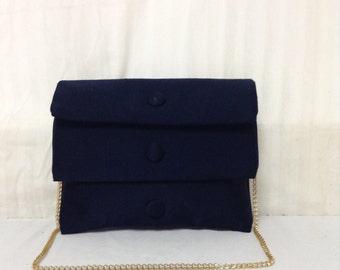 Vintage Purse,bag, Blue, Shoulder Bag