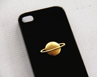 Black iPhone 7 Plus Cases iPhone 7 Saturn Planet Hipster Gold Cosmos Cosmoogica Phone Case Smartphone Accessory Protection Stye Present