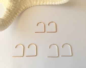 Ear Suspender. Available in 14K Rose Gold Filled, Sterling Silver, 14K Gold Filled.