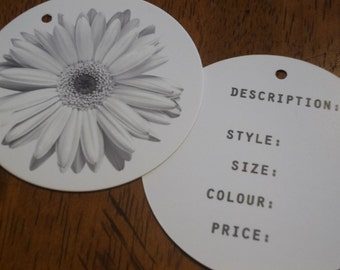 250 Custom Printed 2.5 Inch Round Hangtags - Professionally offset printed - Super Thick 14pt Cardstock