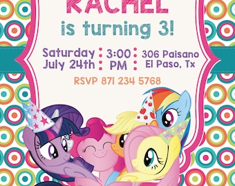 my little pony invitation also  tags label party birthday english or spanish