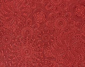 Upholstery Fabric - Camden - Poppy - Designer Pattern Embossed Vinyl Home Decor Upholstery Fabric by the Yard - Available in 10 Colors
