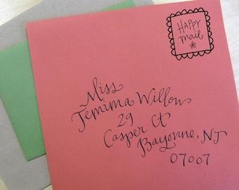 Happy Mail Handwritten Stamp