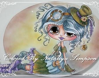 INSTANT DOWNLOAD  Digital Digi Stamps Big Eye Big Head Dolls img602 Bestie By Sherri Baldy