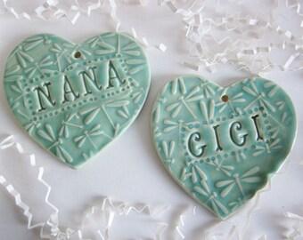 Christmas gift for, Nana, Gigi, Mimi,  In Stock, ceramics and pottery