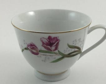 Sale Vintage Pink Tulip Tea Cup Made in China