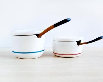 Ceramic salt and pepper cellar Scandinavian design, Ceramic salt box with lid, Salt cellar, Pepper cellar, Salt pig, Pottery Salt keeper