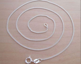 "925 Sterling Silver 20"" / 51 cm Long Curb Chain"
