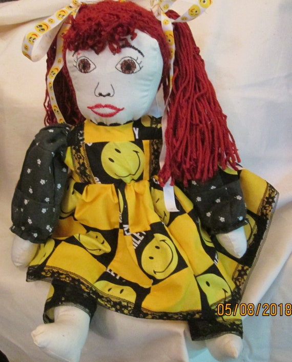 Patchwork Smiley Face Doll