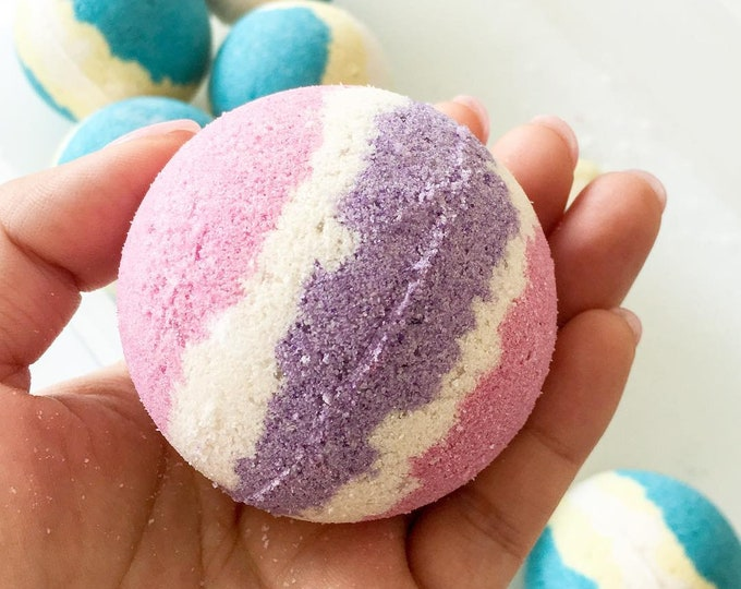 Featured listing image: Bubblegum, Love Spell and Monkey Farts - Fizzy Bath Bombs 60mm - Assorted scents
