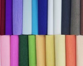 Wide crepe paper rolls