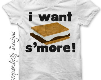 Camping Iron on Transfer - Smore Iron on Shirt / Toddler Boys Tshirt / Kids Camping Shirt / Campfire Clothing / Funny Baby Clothes  IT74