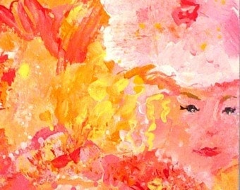 Abstract Painting * HIDDEN LADIES * Small Art Format * Art by Rodriguez