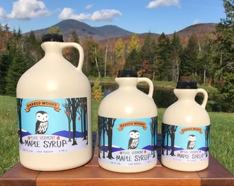 Grade B Maple Syrup - Pure Vermont Maple Syrup - Now Known as Grade A Dark Robust
