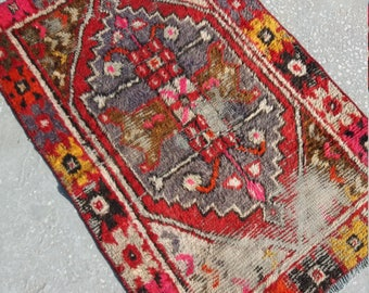 Oushak Rug, Vintage Turkish Rug,Pastel Colors,Handmade Oushak Floor Rug, Office Decor,Old Rug,2'7x3'8''Feet,Colors Oushak Rug,