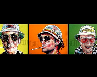 "Prints 8x10"" -  Dr. Gonzo Series - Hunter S Thompson Bill Murray Johnny Depp Las Vegas Drugs Acid Journalism Rum Diaries"