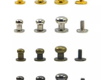Quantité 10 ~ Piolino et Post argent ou laiton Antique finition 6mm ou 8mm