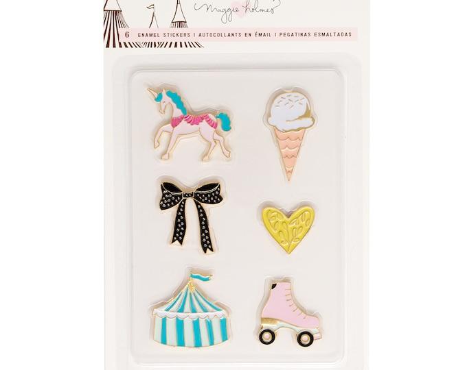 Maggie holmes carousel faux enamel pin stickers
