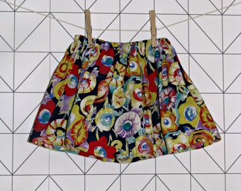 Floral cotton baby and toddler skirt