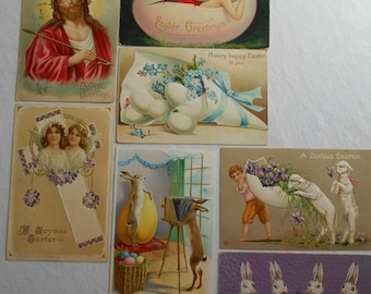Vintage Easter Postcards lot of 7