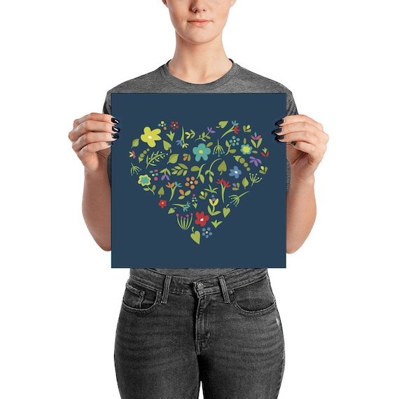Floral Heart Poster