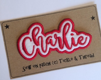 7 Letter Sew on Name Patch - Made to Order